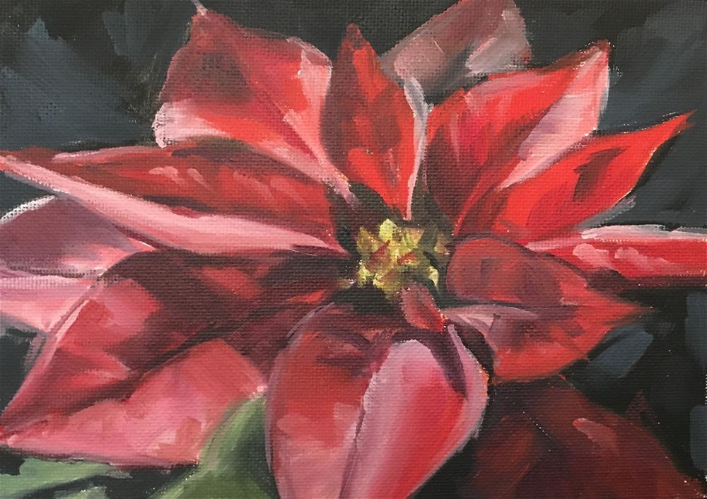 """""""Poinsettia (185)"""" original fine art by Tamanda Elia"""