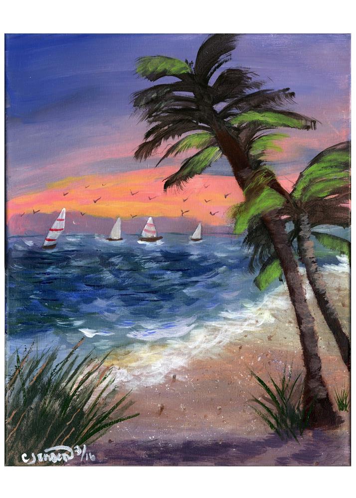 """A day sailing"" original fine art by Cindy Jensen"