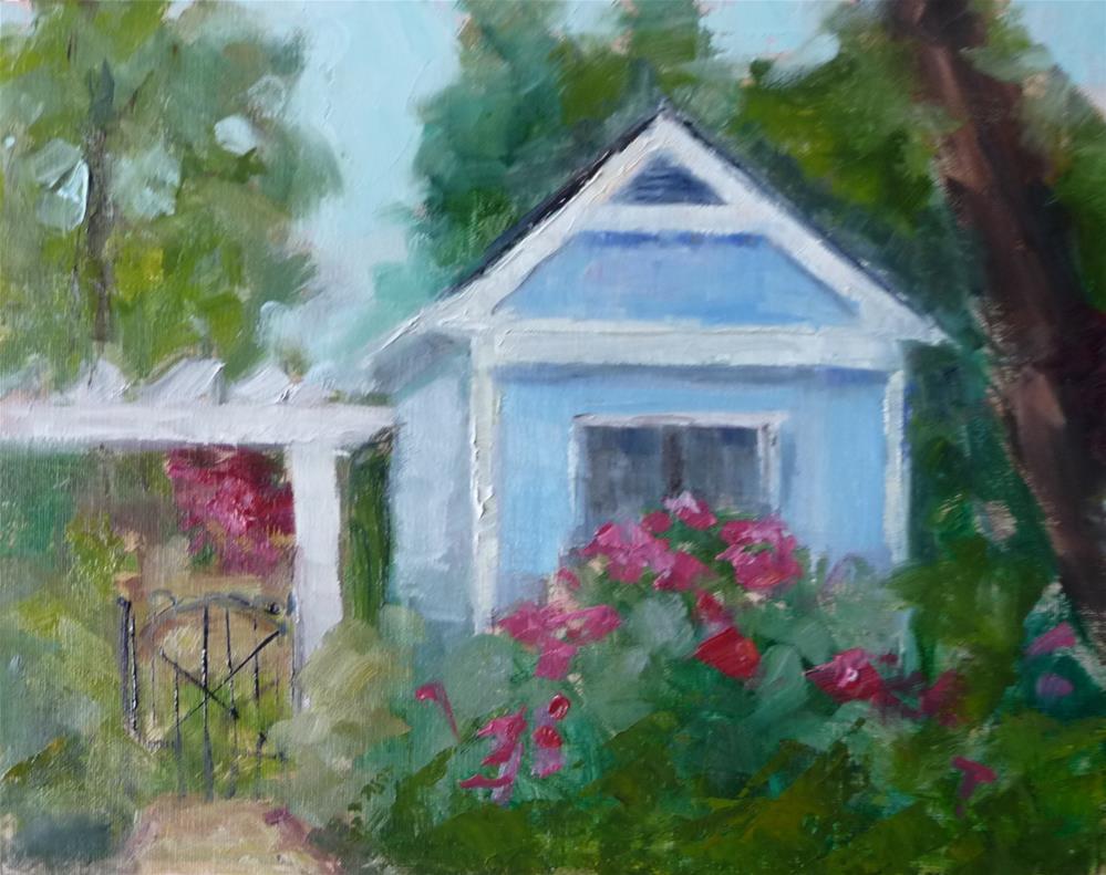 """Garden Shed"" original fine art by Carol Josefiak"