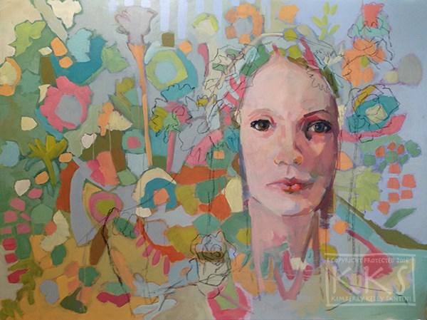 """Two Generations"" original fine art by Kimberly Santini"
