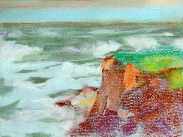 """""""From The Captain's Deck"""" original fine art by Donna Crosby"""