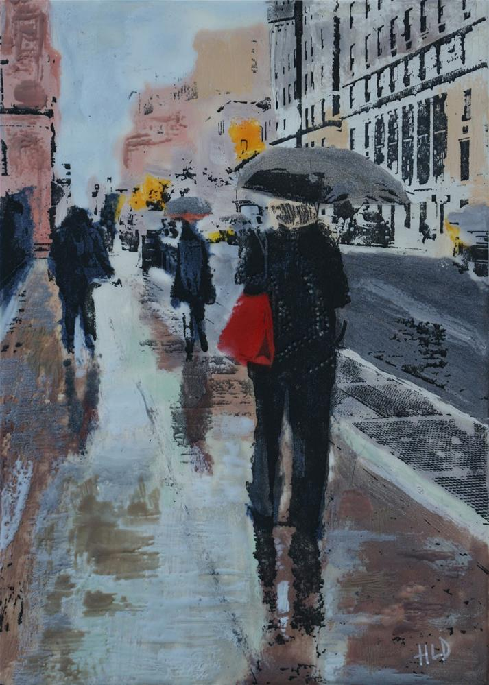 """Red Purse"" original fine art by Heather Douglas"