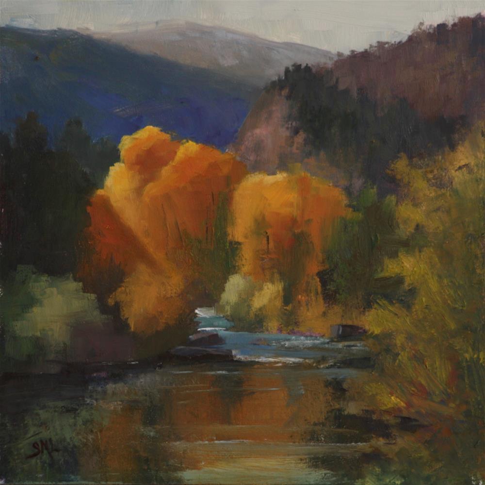 """First Light Over the Mountain"" original fine art by Sheila Marie"