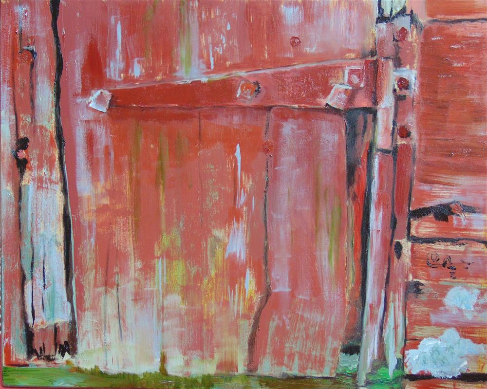 """A Bit of Barn Door"" original fine art by Catherine Kauffman"