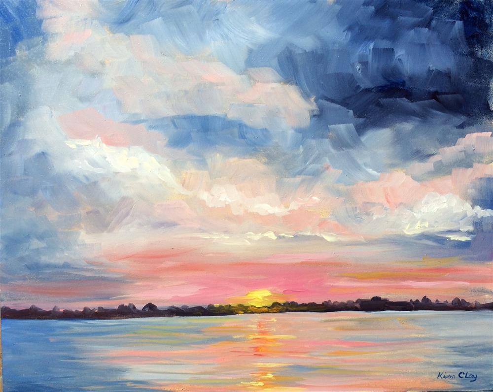 """Sunset at Siesta Key"" original fine art by Kim Clay"