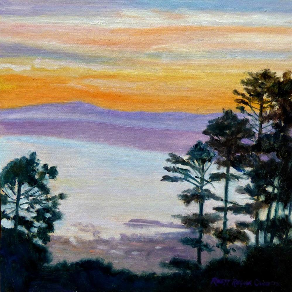 """Sunrise Above Monterey Bay"" original fine art by Rhett Regina Owings"