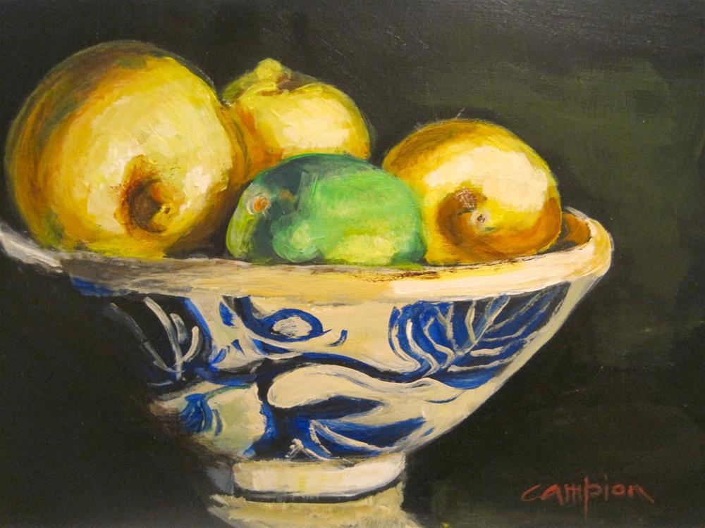 """418 Sour"" original fine art by Diane Campion"