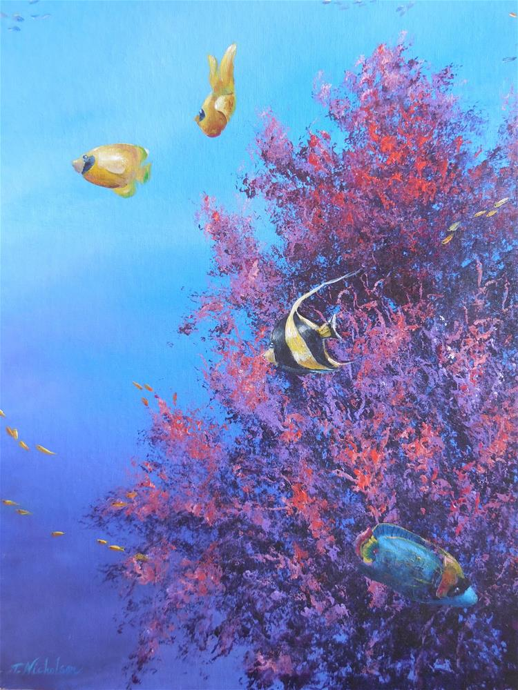 """Coral Reef"" original fine art by Terri Nicholson"