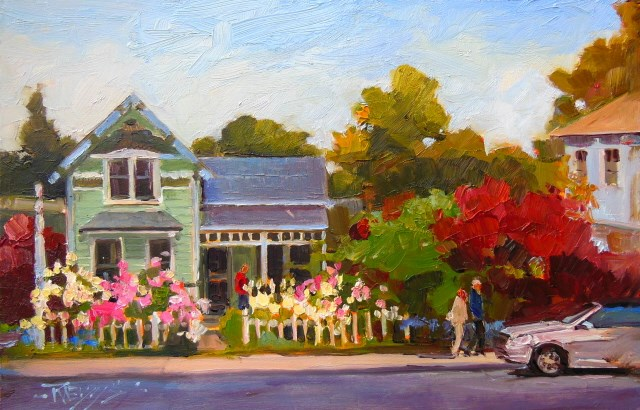 """Hipster House  LaConner , plein air oil painting by Robin Weiss"" original fine art by Robin Weiss"