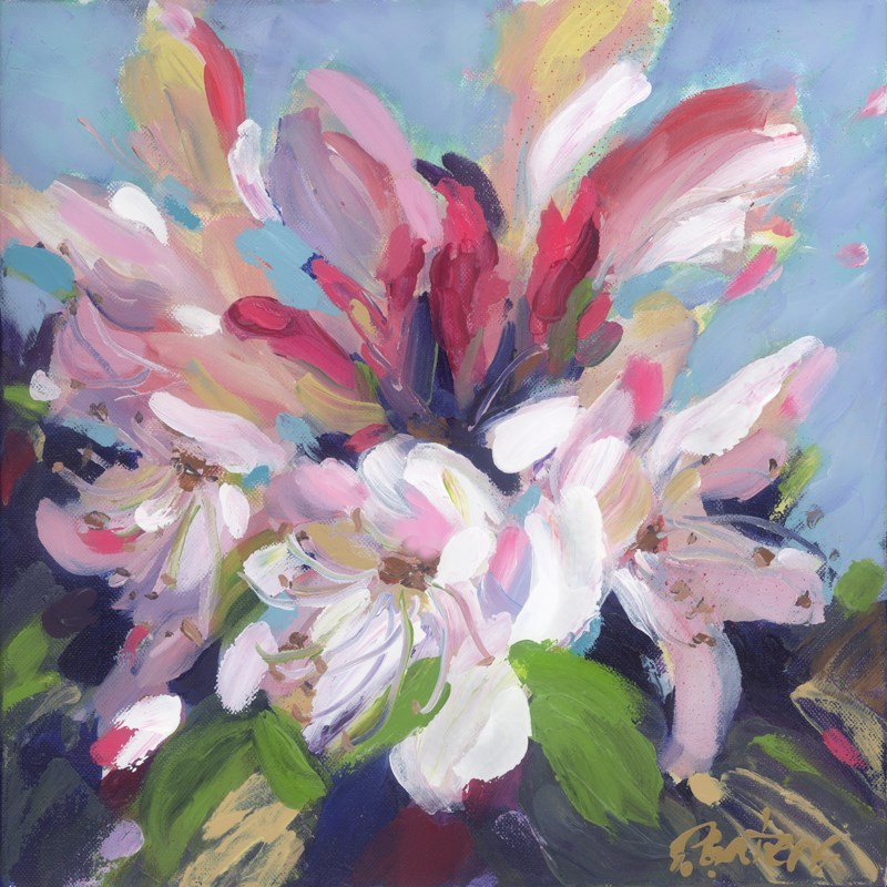 """Greenbrier River Rhodies"" original fine art by Pamela Gatens"