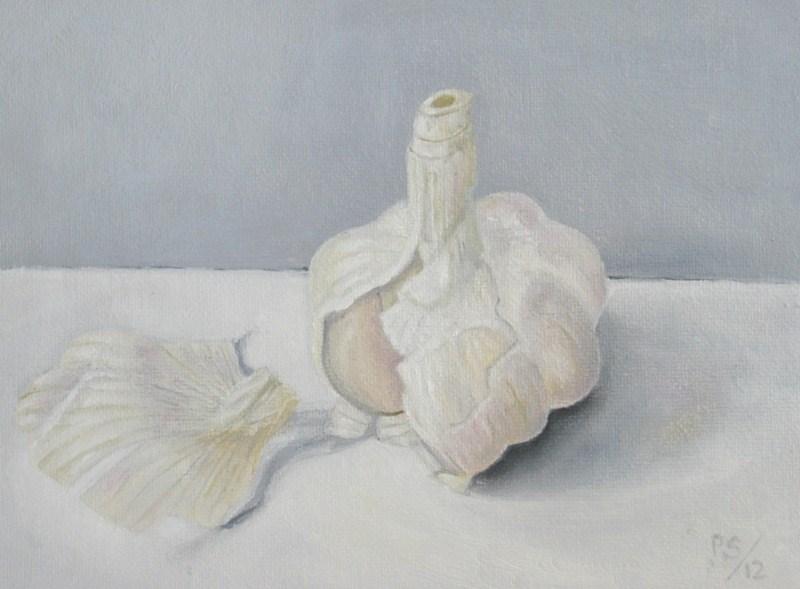 """Garlic VII"" original fine art by Pera Schillings"