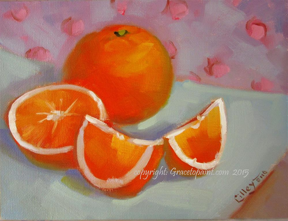 """Oranges"" original fine art by Maresa Lilley"