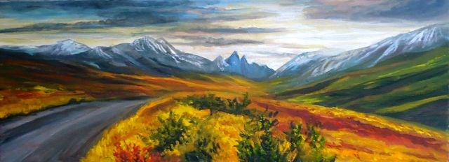 """""""Road to Tombstone Mountains"""" original fine art by Jackie Irvine"""