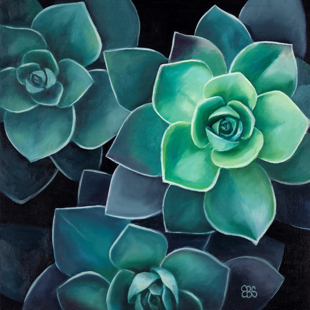 """""""Succulent No 3"""" original fine art by Elaine Brady Smith"""