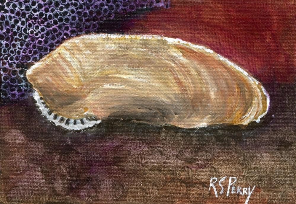 """Pholasdactylus (Piddock)"" original fine art by R. S. Perry"