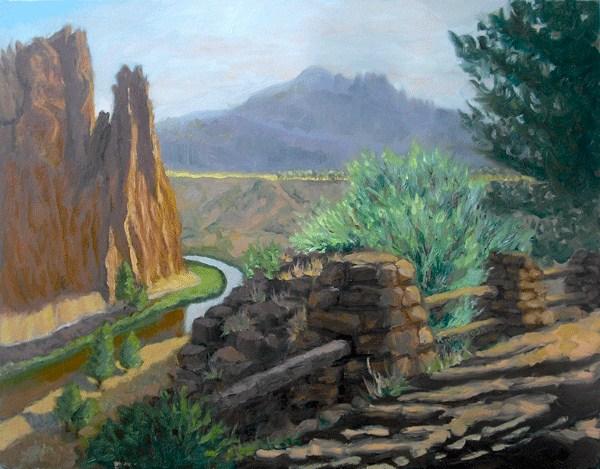"""Rock Climbers' Morning"" original fine art by Kathy Johnson"