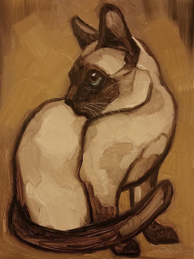 """The Siamese"" original fine art by Leni Tarleton"