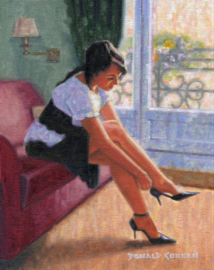 """High Heels"" original fine art by Donald Curran"
