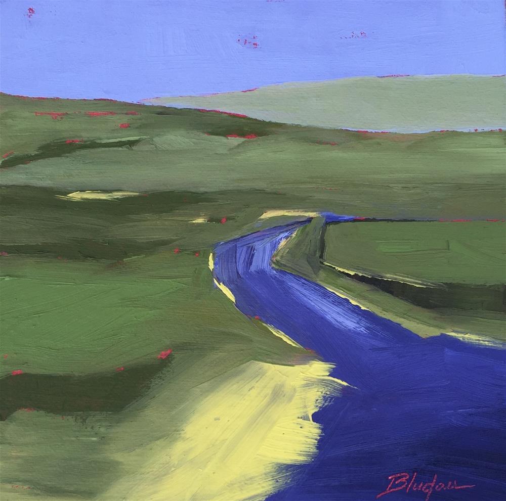 """""""Road To Oprah's"""" original fine art by Janet Bludau"""