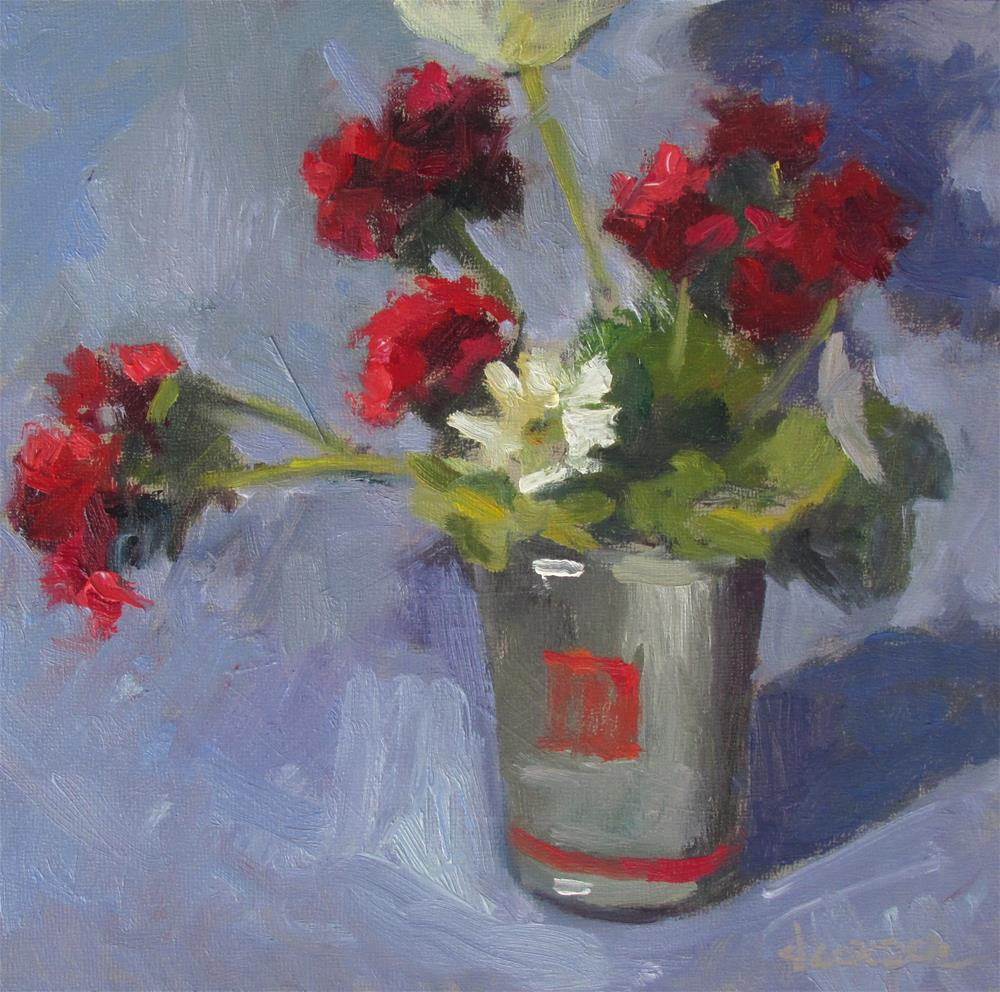 """Geranium Red"" original fine art by Dana Cooper"