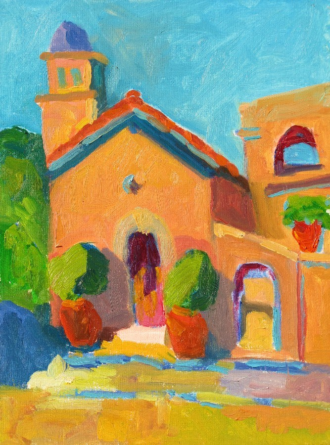"""Tlaquepaque Chapel, Small 12133"" original fine art by Nancy Standlee"