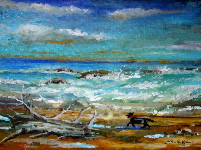 """Beach Bum"" original fine art by JoAnne Perez Robinson"