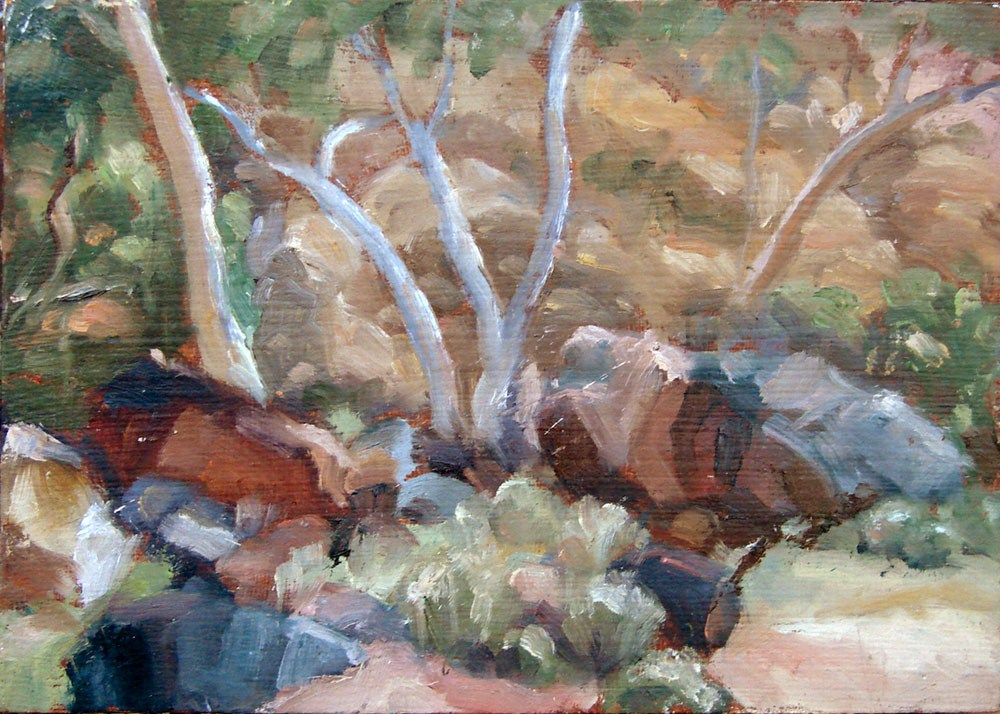 """Ruby Gap - Rockfall"" original fine art by Myriam Kin-Yee"