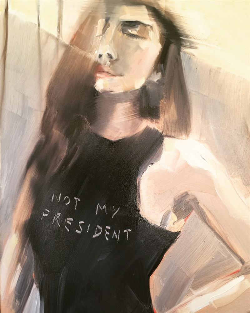 """475 Not My President"" original fine art by Jenny Doh"