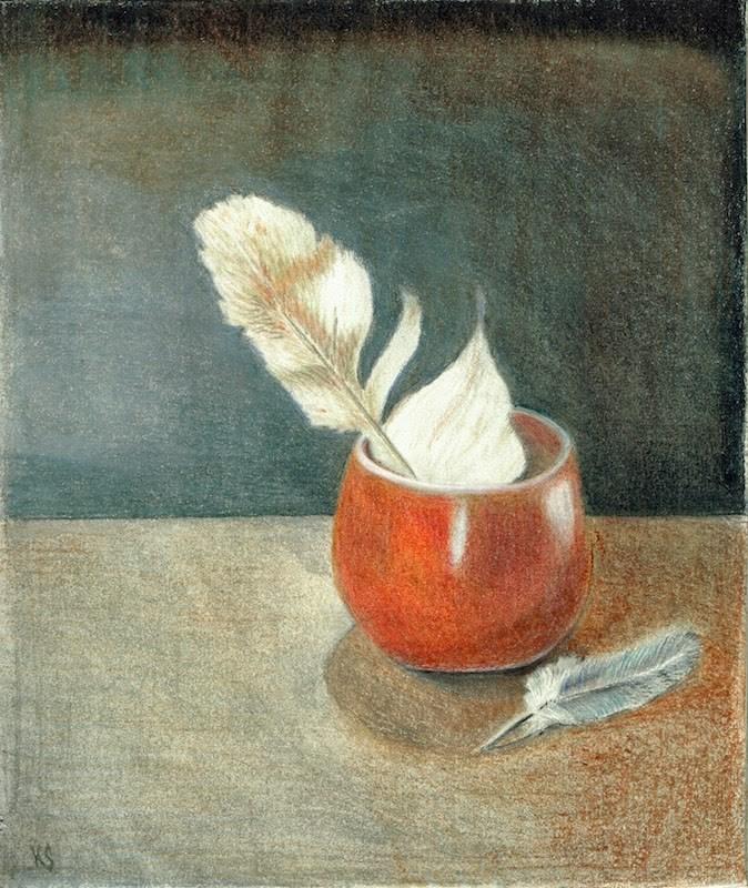 """""""The weight of feathers"""" original fine art by Karen Stitt"""