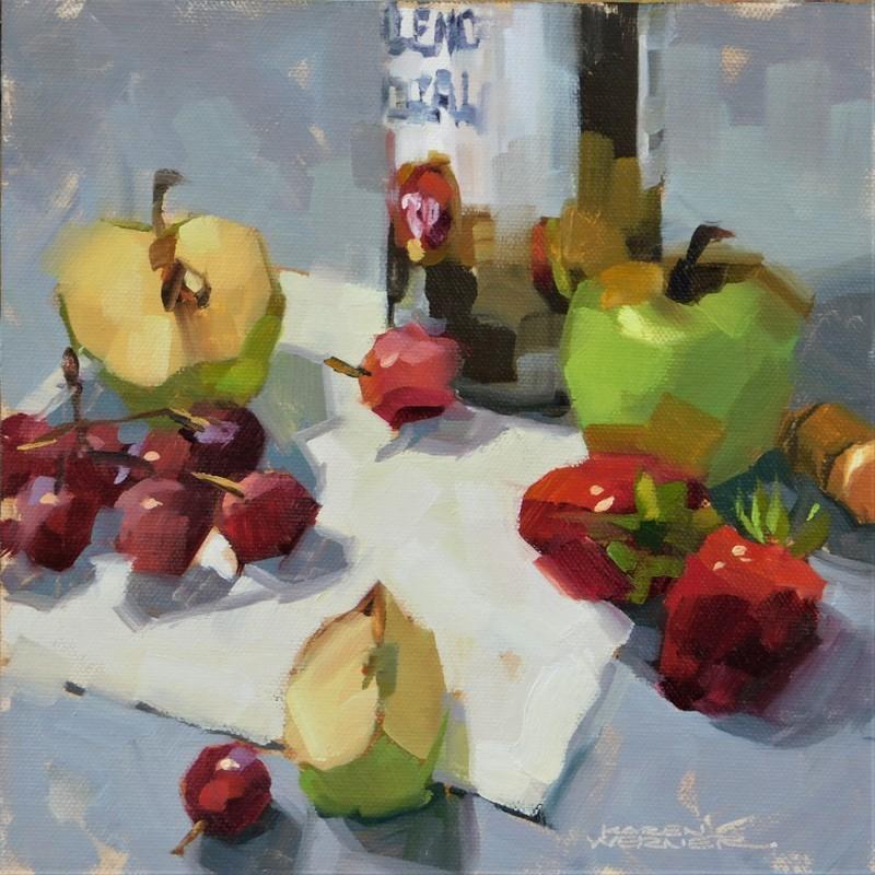 """""""Loose Fruit"""" original fine art by Karen Werner"""