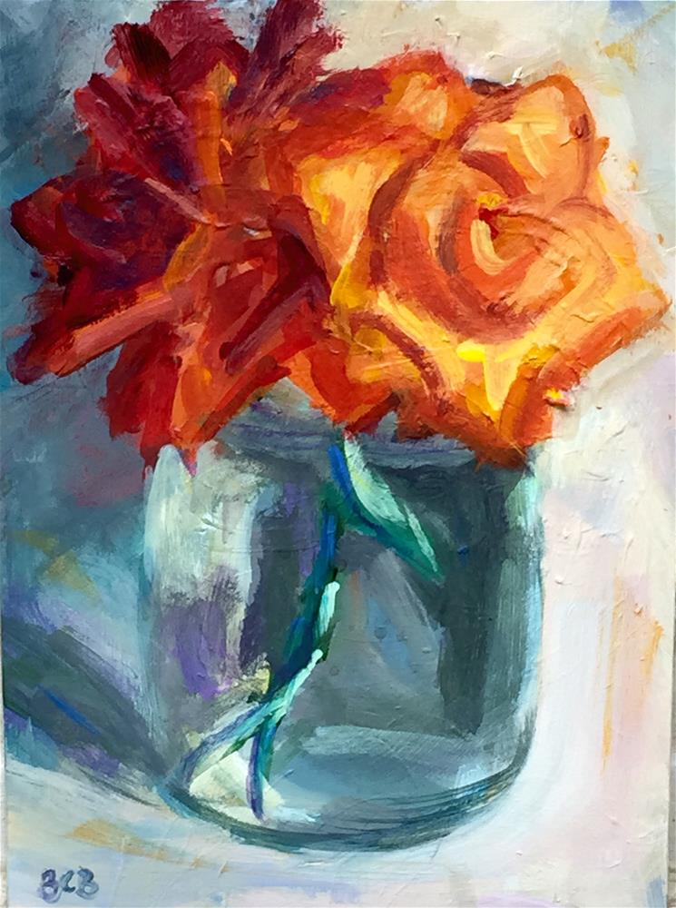 """""""Flowers from the yard"""" original fine art by Beth Carrington Brown"""