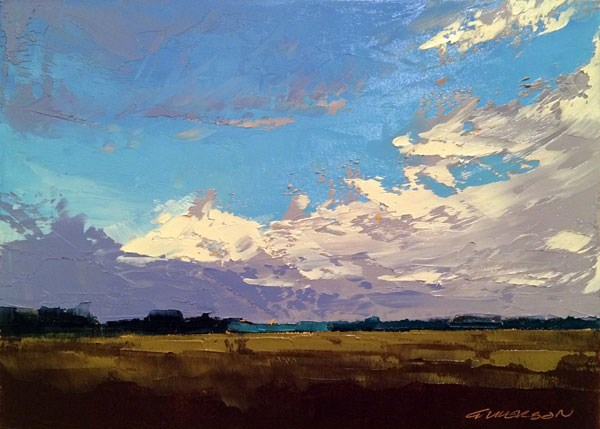 """""""Early Fall Storm Clouds"""" original fine art by Mary Gilkerson"""