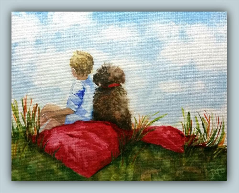 """My Best Friend"" original fine art by Dana C"
