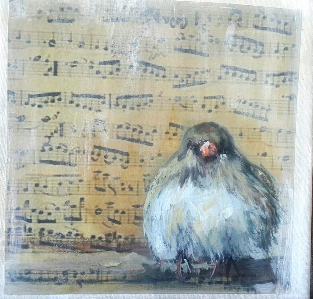 """""""Birdsong 1"""" original fine art by Rentia Coetzee"""