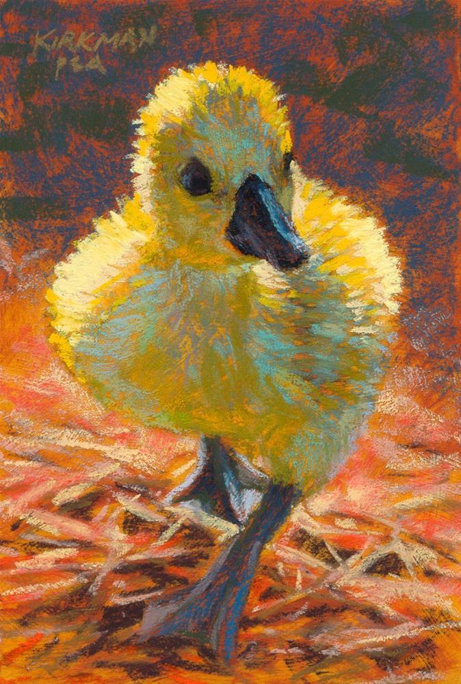 """""""Duckling Walking"""" original fine art by Rita Kirkman"""