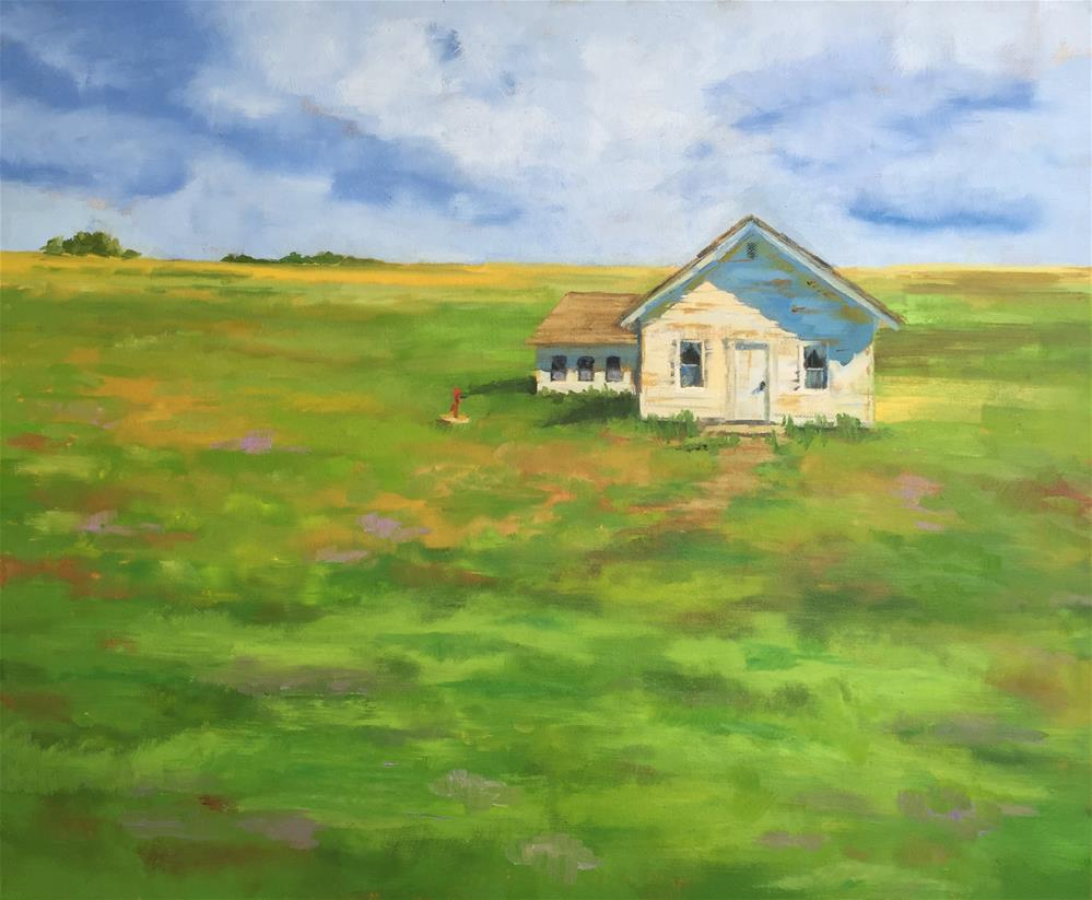"""Old School House"" original fine art by Pam Holnback"