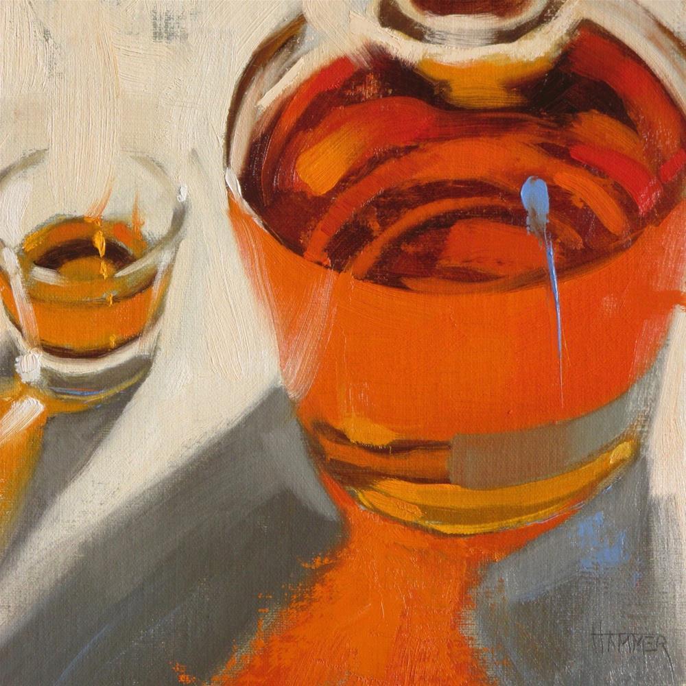 """Weller  8in x 8in  oil"" original fine art by Claudia Hammer"