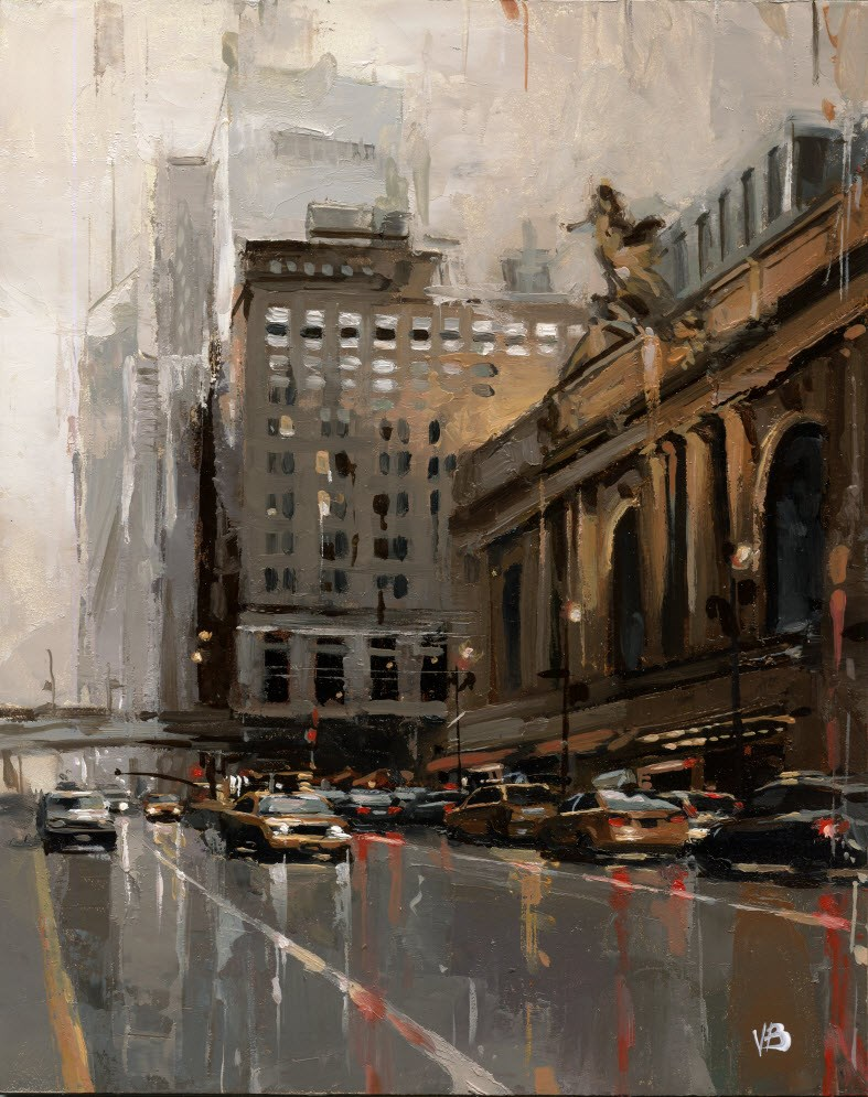 """Grand Central"" original fine art by Victor Bauer"
