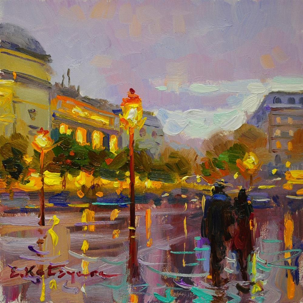 """Purple Twilight"" original fine art by Elena Katsyura"