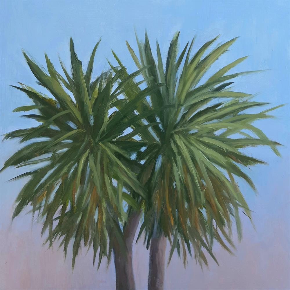 """Cabbage Tree"" original fine art by Karen Johnston"