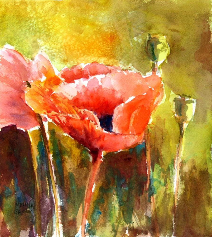 """""""Poppy Splendor"""" original fine art by Melissa Gannon"""