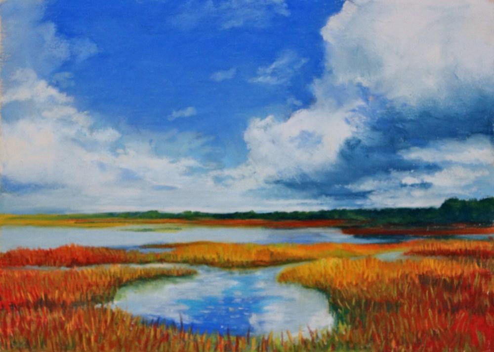 """""""Captured Sky"""" original fine art by Jill Bates"""