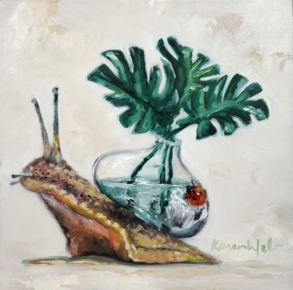 """Delicious Monster"" original fine art by Karen Weber"