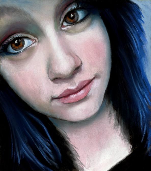 """Kyleigh facebook friends paintings"" original fine art by Ria Hills"