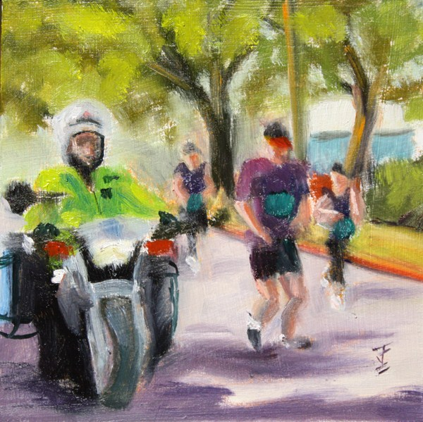 """First Responder"" original fine art by Jane Frederick"