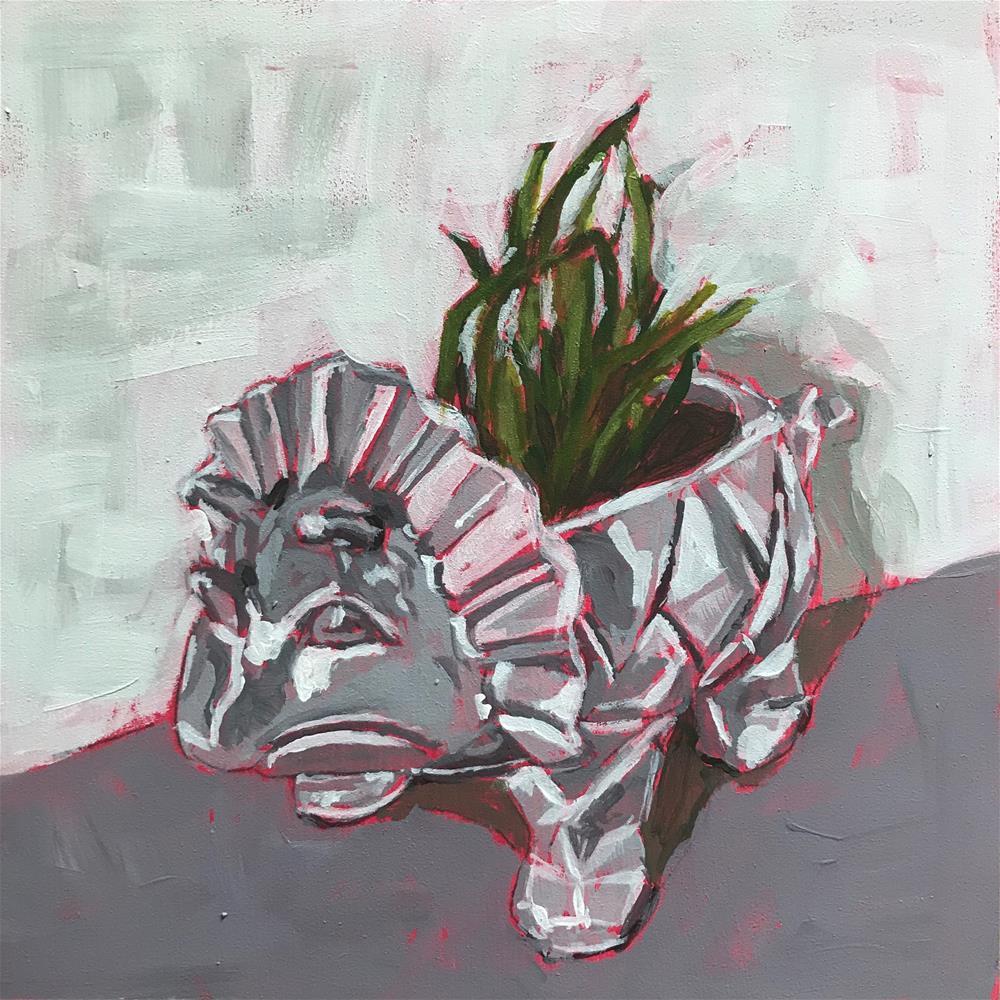 """""""Cutest planter ever"""" original fine art by Gina Garding"""