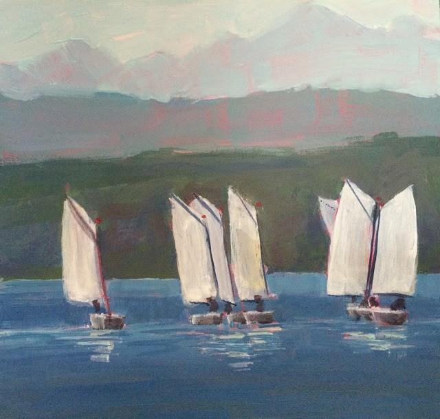 """Quick Learners, 6x6 inch Acrylic by Kelley MacDonald"" original fine art by Kelley MacDonald"