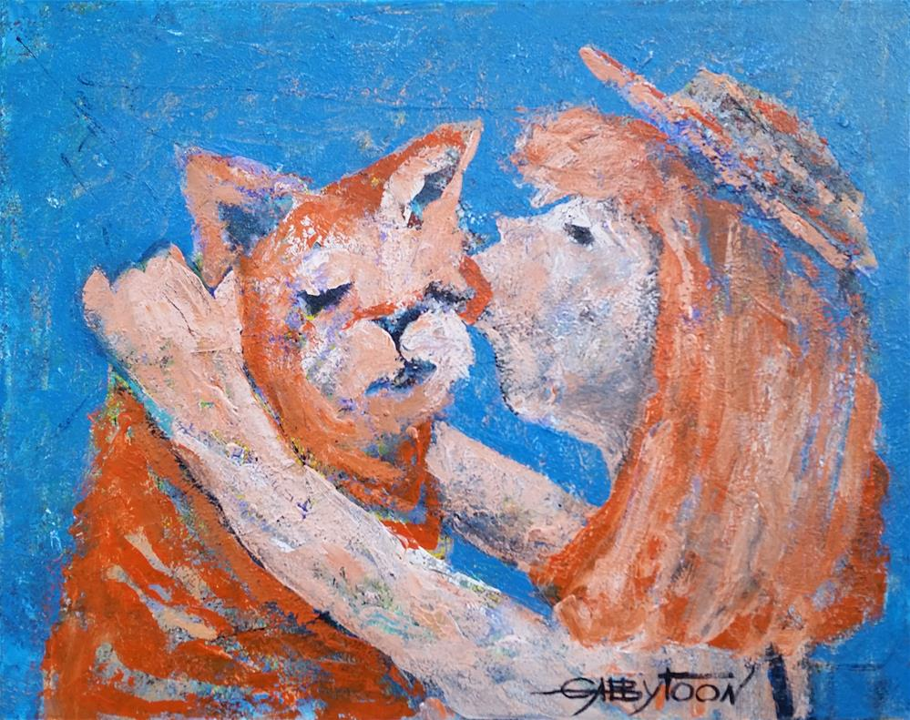 """Red Haired Love"" original fine art by Gabriella DeLamater"