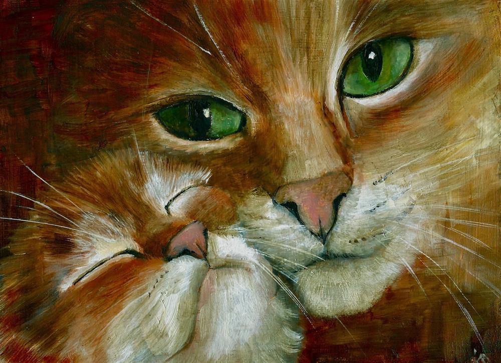 """Mother & daughter 2"" original fine art by Karen Robinson"