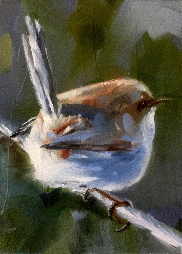 """Bird On A Wire"" original fine art by Gary Bruton"